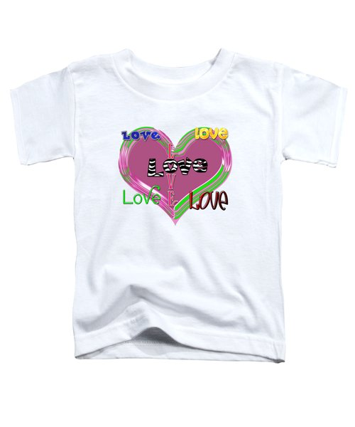 Heart Love Toddler T-Shirt