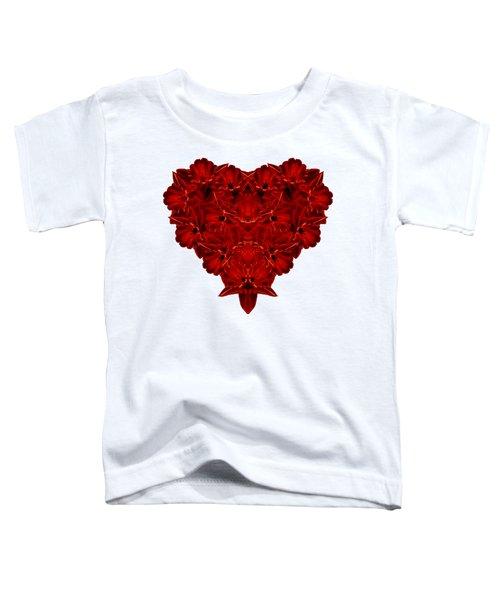 Heart Of Flowers T-shirt Toddler T-Shirt by Edward Fielding