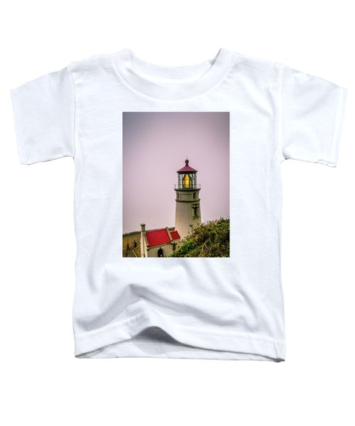 Heceta Head Lighthouse In The Fog Toddler T-Shirt