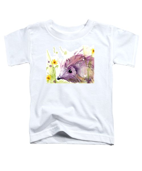 Hedgehog In The Wildflowers Toddler T-Shirt