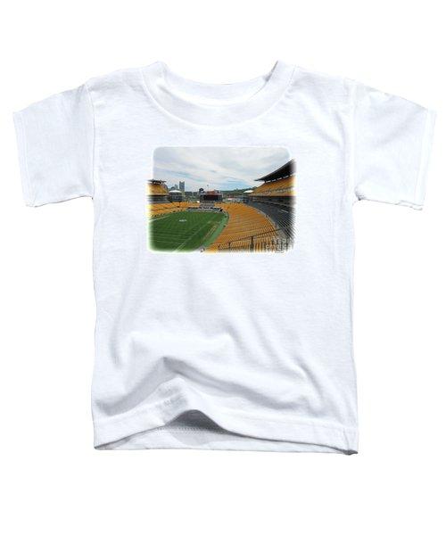 Heinz Stadium With Pittsburgh Skyline Toddler T-Shirt