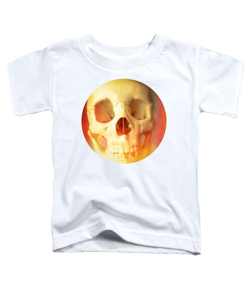 Hell Fire Skull Round Beach Towel Blanket Toddler T-Shirt