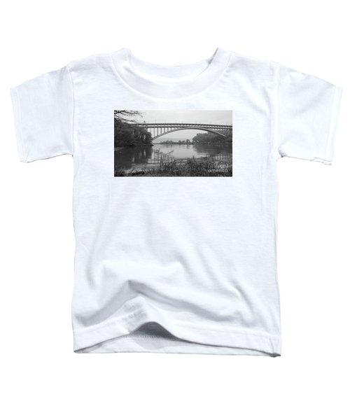 Henry Hudson Bridge  Toddler T-Shirt by Cole Thompson