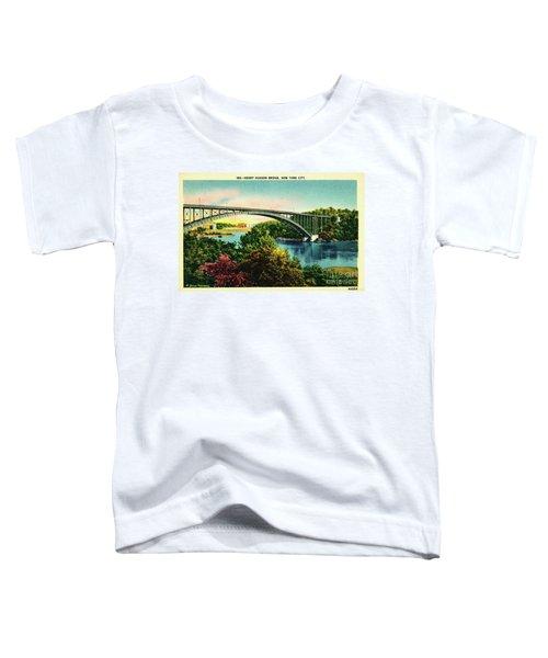 Henry Hudson Bridge Postcard Toddler T-Shirt by Cole Thompson