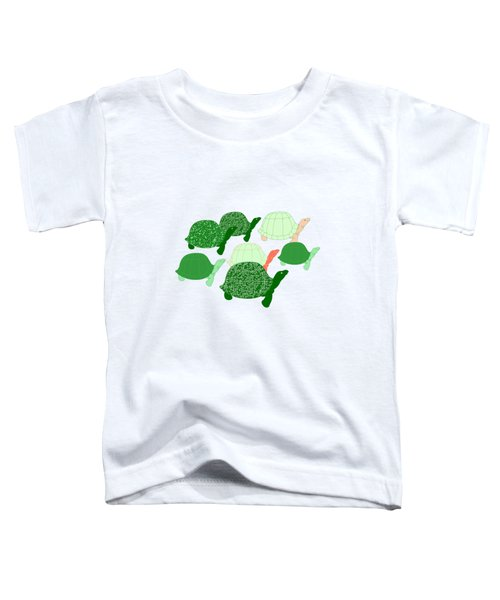 Herd Of Turtles Pattern Toddler T-Shirt by Methune Hively