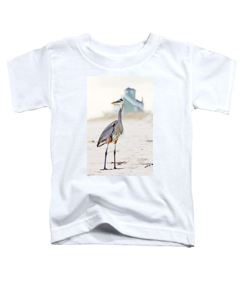 Heron And The Beach House Toddler T-Shirt