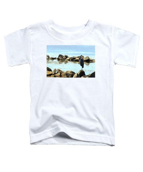 Heron On The Rocks Toddler T-Shirt