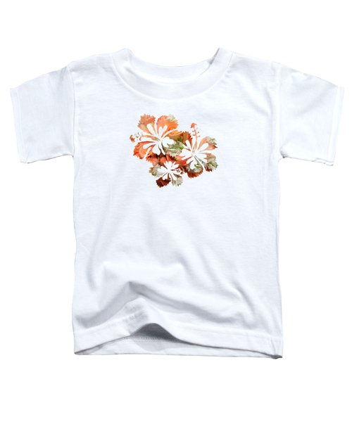 Hibiscus Flowers Toddler T-Shirt by Art Spectrum