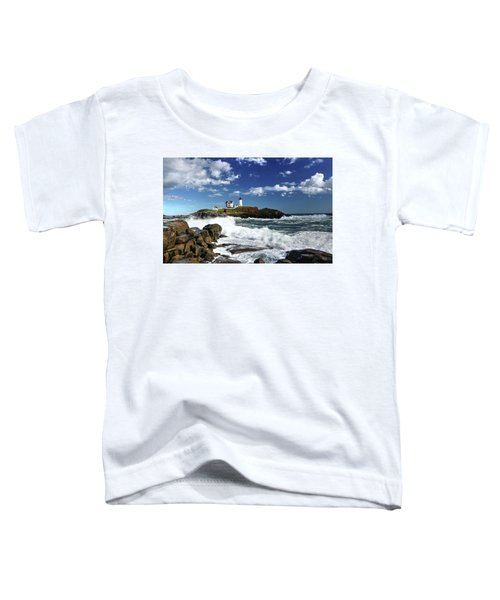 High Surf At Nubble Light Toddler T-Shirt