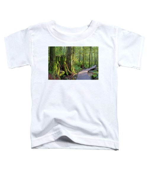 Hiking Trail Through Forest In Lynn Canyon Park Toddler T-Shirt