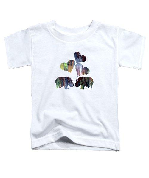 Hippo Art Toddler T-Shirt