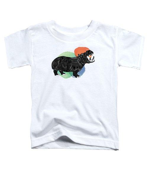 Hippo Toddler T-Shirt by Serkes Panda