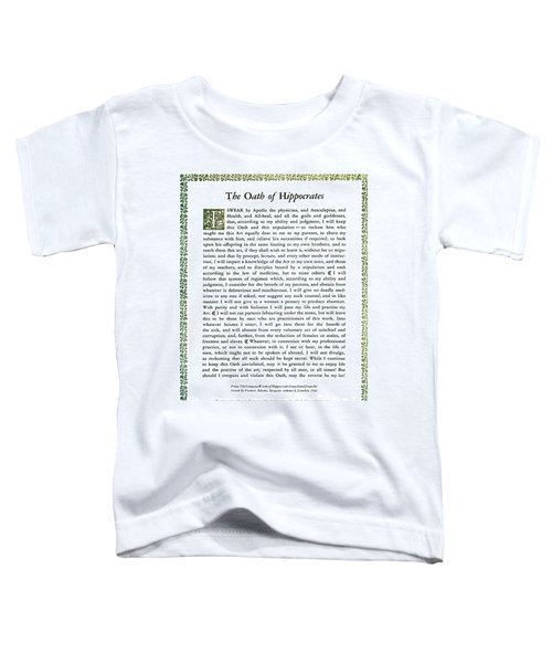 Hippocratic Oath, 1938 Toddler T-Shirt