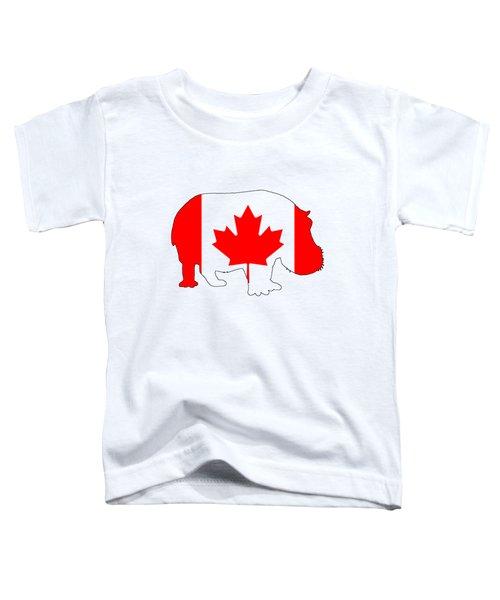 Hippopotamus Canada Toddler T-Shirt by Mordax Furittus