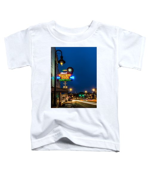 Historic Almond Roca Co. During Blue Hour Toddler T-Shirt
