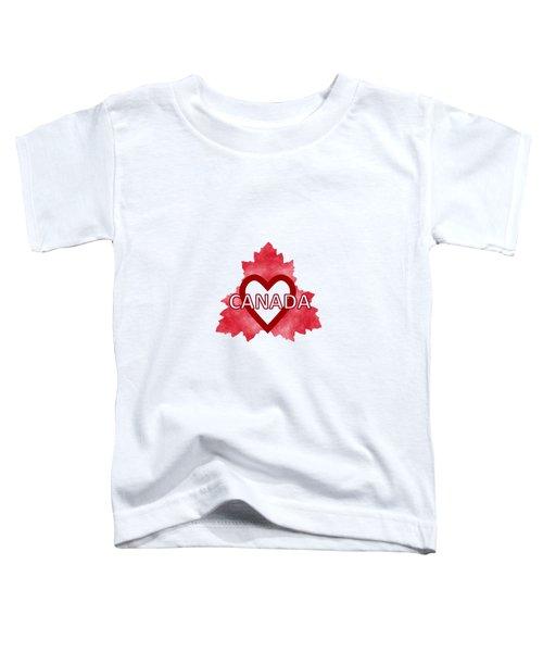 Home Sweet Canada Toddler T-Shirt by Kathleen Sartoris