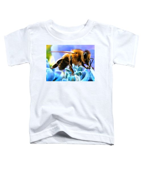 Honey Bee In Interior Design Thick Paint Toddler T-Shirt