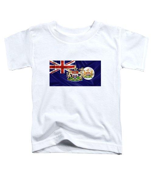 Hong Kong - 1959-1997 Historical Coat Of Arms Over British Hong Kong Flag  Toddler T-Shirt