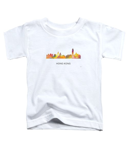 Hong Kong China Skyline Toddler T-Shirt by Marlene Watson