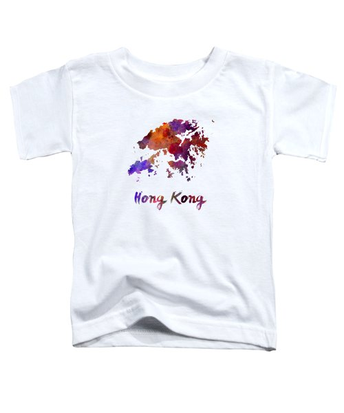 Hong Kong In Watercolor Toddler T-Shirt by Pablo Romero