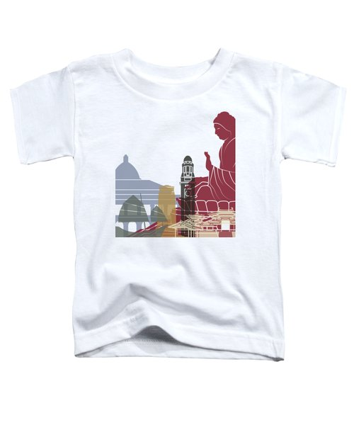 Hong Kong Skyline Poster Toddler T-Shirt by Pablo Romero