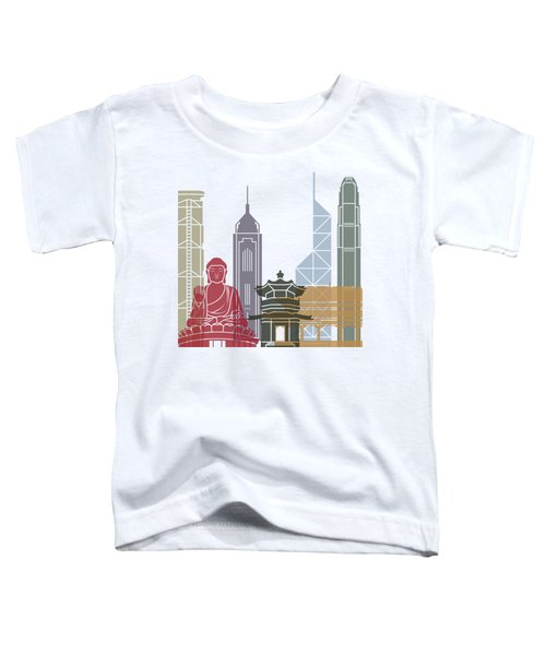 Hong Kong Skyline Poster_v2 Toddler T-Shirt by Pablo Romero