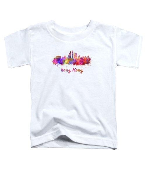 Hong Kong V2 Skyline In Watercolor Toddler T-Shirt