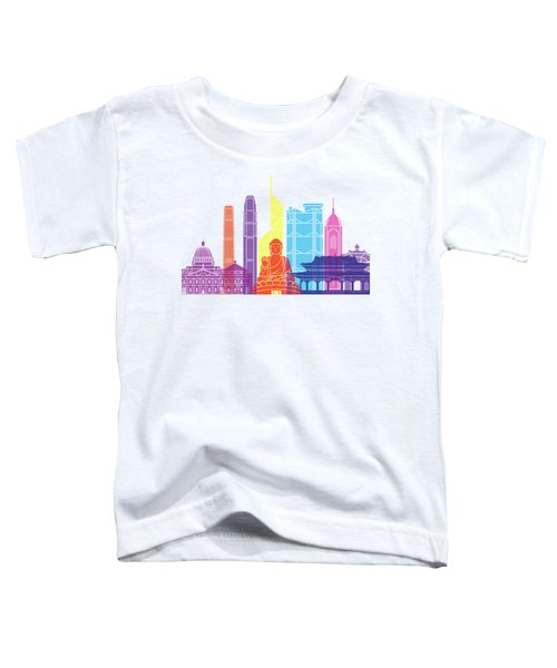 Hong Kong V2 Skyline Pop Toddler T-Shirt by Pablo Romero
