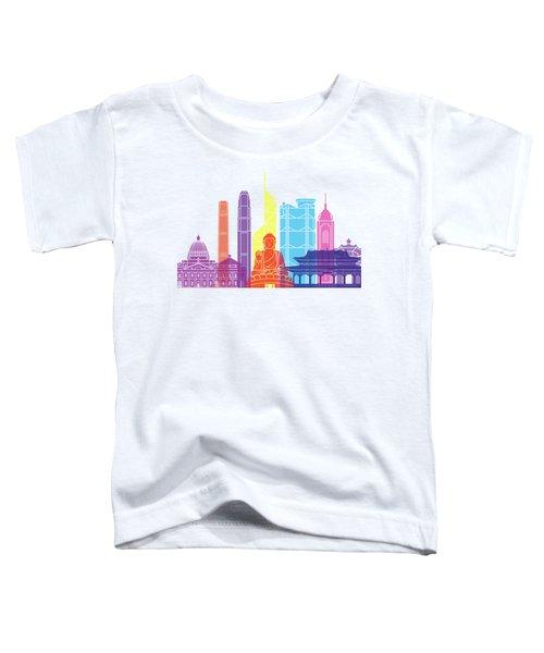 Hong Kong V2 Skyline Pop Toddler T-Shirt