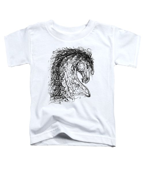 Horse  Dripped Abstract Pollock Style On #fineartamerica Toddler T-Shirt