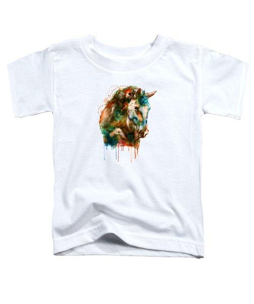 Horse Head Watercolor Toddler T-Shirt