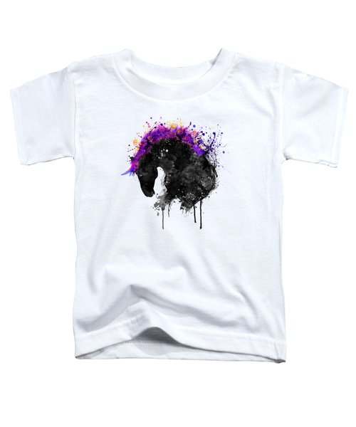 Horse Head Watercolor Silhouette Toddler T-Shirt