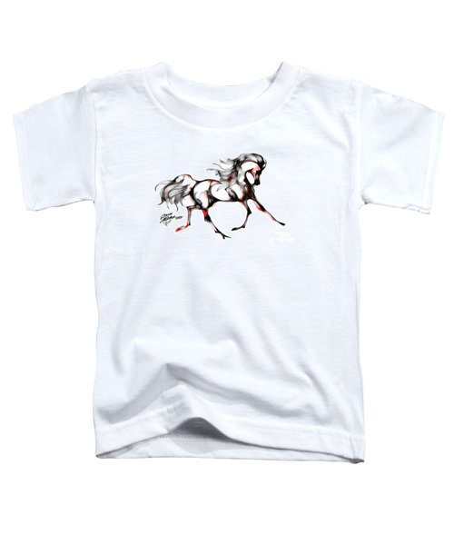 Horse In Extended Trot Toddler T-Shirt