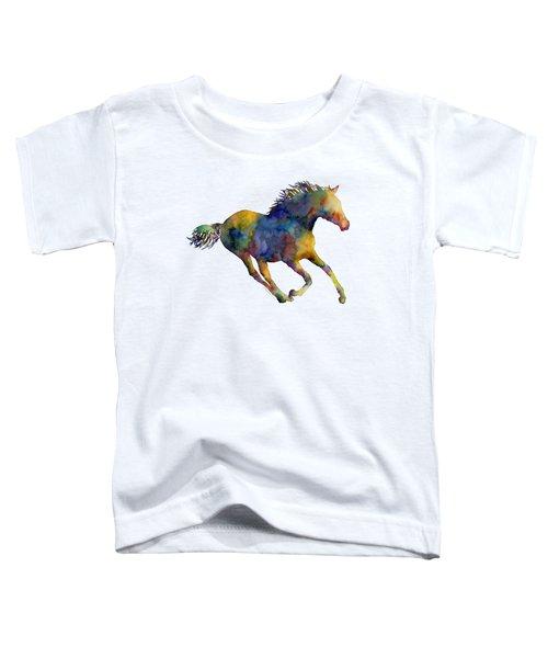 Horse Running Toddler T-Shirt