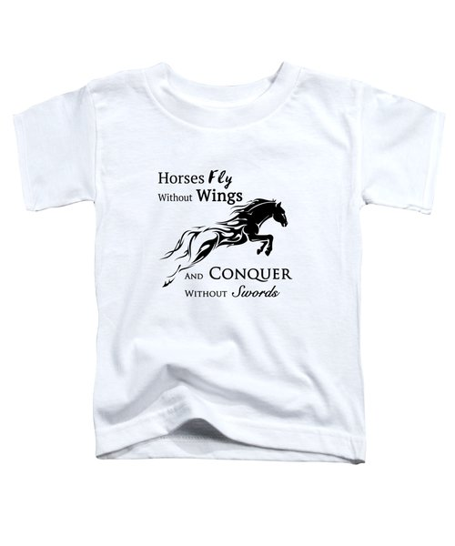 Horses Fly Toddler T-Shirt