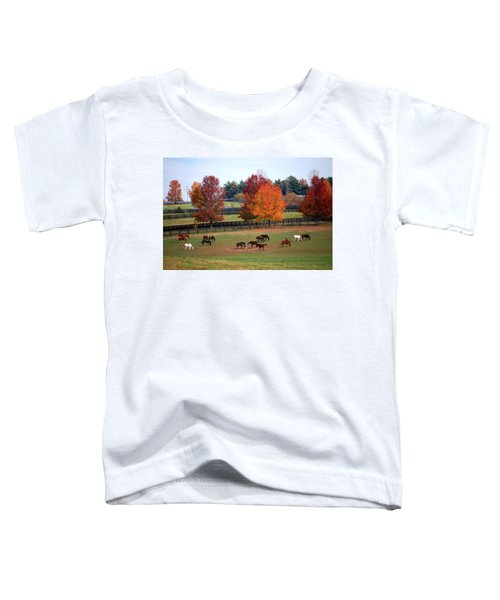 Horses Grazing In The Fall Toddler T-Shirt