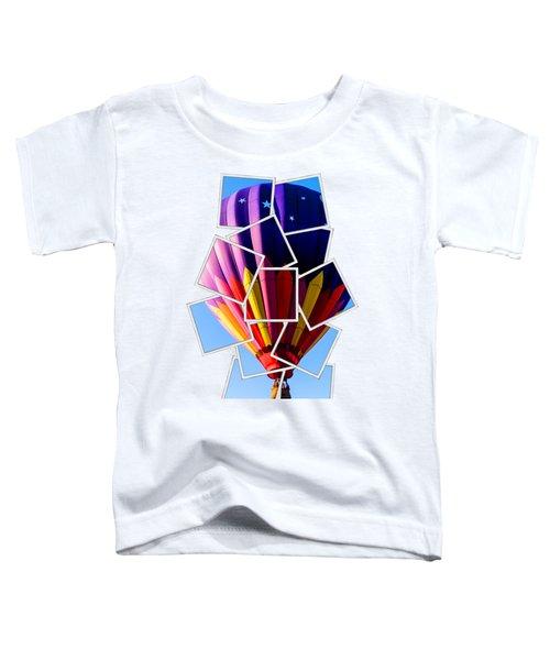 Hot Air Ballooning Tee Toddler T-Shirt by Edward Fielding