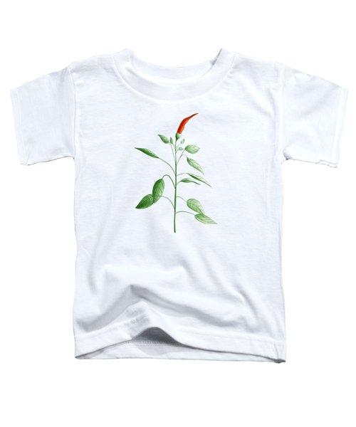 Hot Chili Pepper Plant Botanical Illustration Toddler T-Shirt