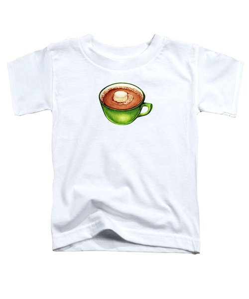 Hot Cocoa Pattern Toddler T-Shirt