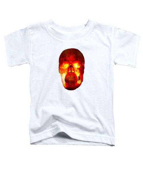 Hot Headed Skull On Transparent Background Toddler T-Shirt