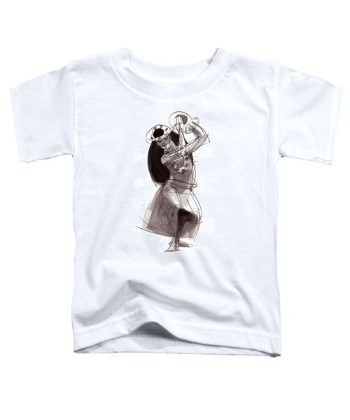 Toddler T-Shirt featuring the painting Hula Dancer Alika by Judith Kunzle