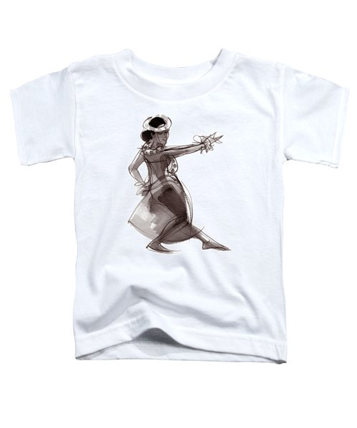 Toddler T-Shirt featuring the painting Hula Dancer Keala by Judith Kunzle