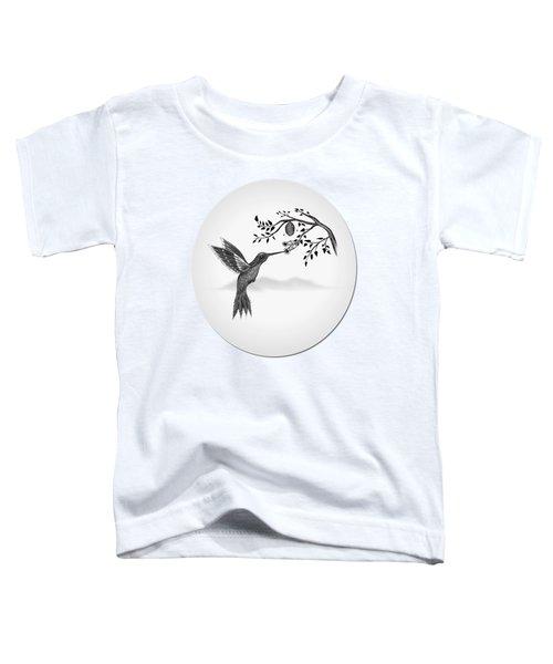 Hummingbird On Oval Toddler T-Shirt