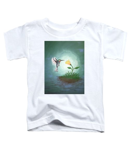 Toddler T-Shirt featuring the painting Hummingbird II by Antonio Romero