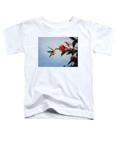 Hummingbird Red Flowers Toddler T-Shirt