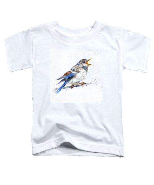 Hungry Fledgling Blue Bird Toddler T-Shirt