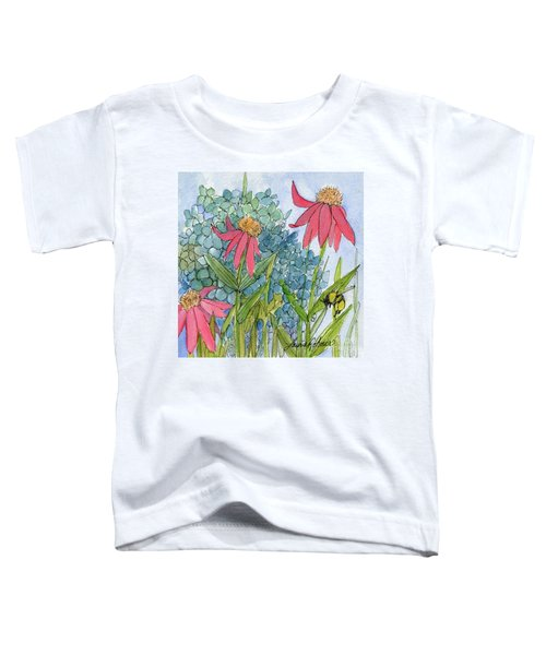 Hydrangea With Bee Toddler T-Shirt