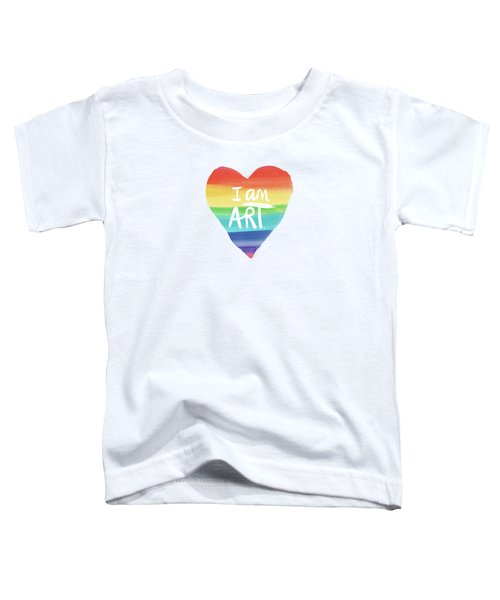 I Am Art Rainbow Heart- Art By Linda Woods Toddler T-Shirt