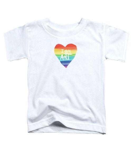 I Am Art Rainbow Heart- Art By Linda Woods Toddler T-Shirt