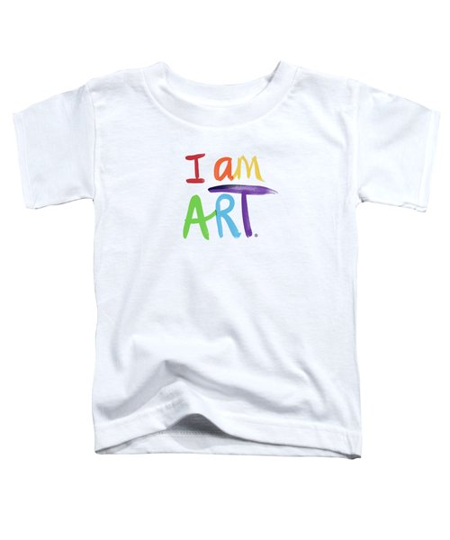 I Am Art Rainbow Script- Art By Linda Woods Toddler T-Shirt
